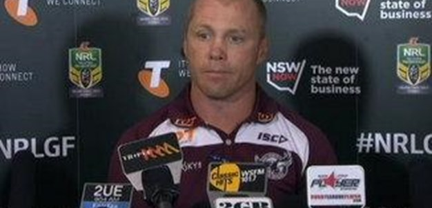 Sea Eagles GF Press Conference
