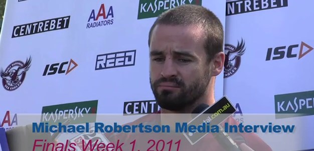 Finals Week 1 Michael Robertson Media Interview
