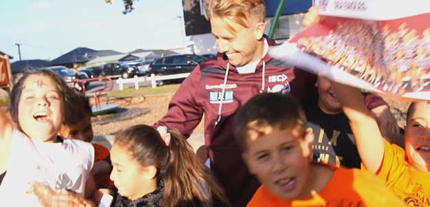 Sea Eagles help bring smiles to kids of Christchurch