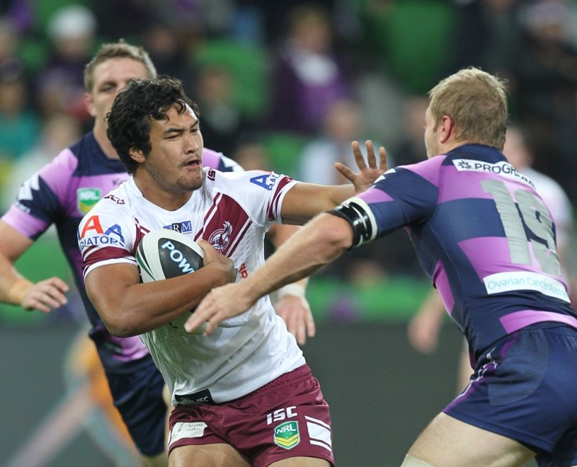 Peta Hiku (Manly-Warringah Sea Eagles):	NRL, Rugby League, Round 10, Melbourne Storm v Manly-Warringah Sea Eagles @ AAMI Park, Melbourne, VIC, Monday May 20th, 2013. Digital Image by Brett Crockford © nrlphotos.com