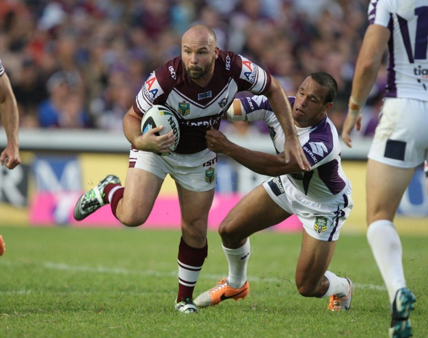 : NRL Rugby League - Round 1. Manly-Warringah Sea Eagles V Melbourne Storm at Brookvale Oval Saturday the 8th of March 2014 . Digital Image by Robb Cox nrlphotos.com