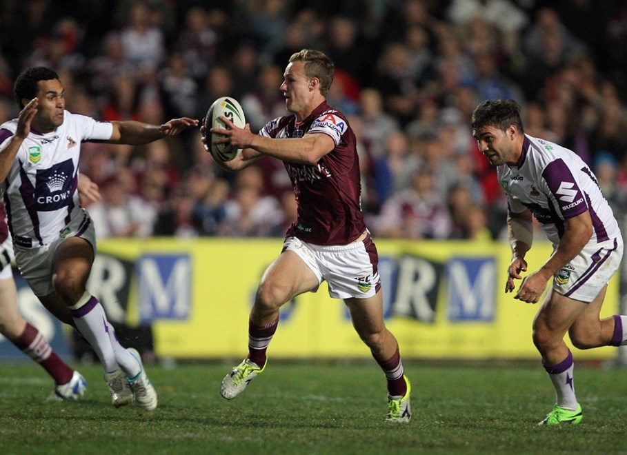 Daly Cherry Evans : National Rugby League, Round 25, Manly-Warringah Sea Eagles Vs Melbourne Storm at Brookvale Oval. Saturday 24th August 2013. Photo by Robb Cox © NRLphotos.com