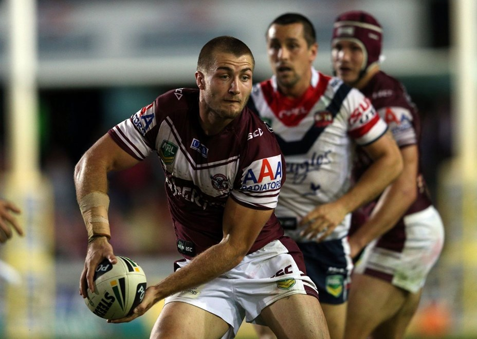 Kieran Foran: NRL Round 9, Manly Warringah v Sydney Roosters, Brookvale Oval, Monday 13th May 2013. Photo: Copyright © Renee McKay/Action Photographics