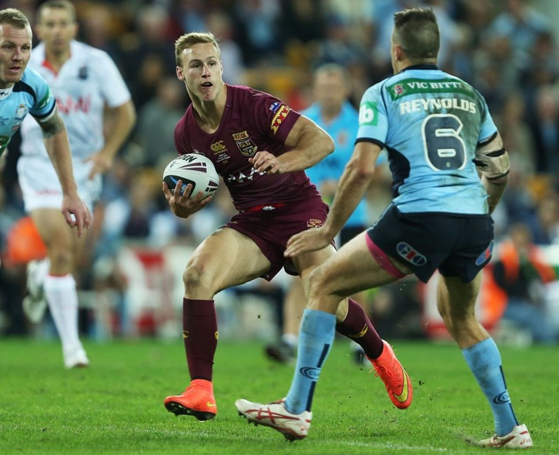 Digital Image by Robb Cox ©nrlphotos.com: Daly Cherry Evans :Representative Rugby League - QLD V NSW State or Origin Game 3 at Suncorp Stadium Stadium, Wednesday the 9th of July 2014.