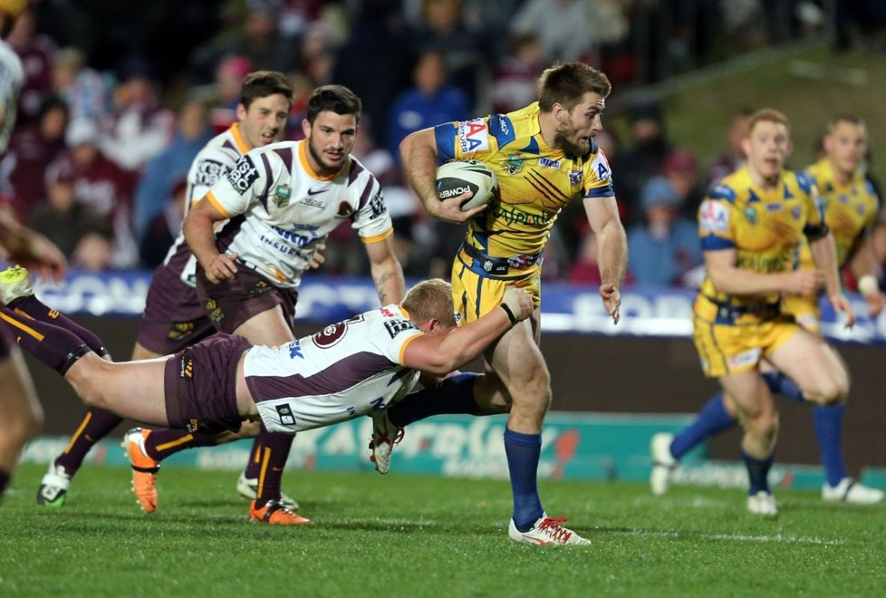 Digital Image Grant Trouville  © nrlphotos.com :   Keiran Foran : NRL Rugby League Round 21 - Manly Sea Eagles v Brisbane Broncos at Brookvale Oval Friday 1st of August 2014.