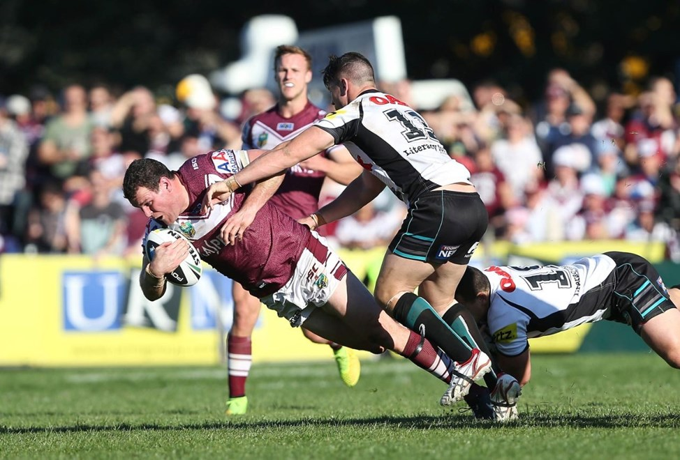 Digital Image by Robb Cox ©nrlphotos.com: Jason King :NRL Rugby League - Round 25, Manly Warringah Sea Eagles V Penrith Panthers at Brookvale Oval, Sunday August 31st 2014.