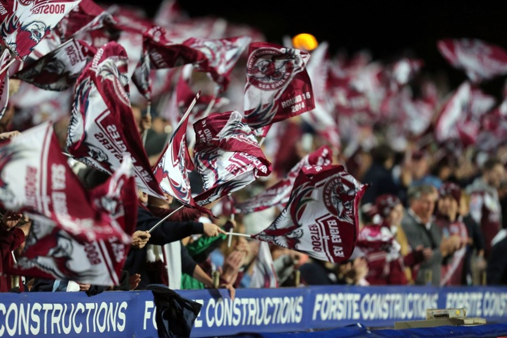 Digital Image Grant Trouville © nrlphotos.com  : NRL Rugby League Round 16 - Manly Sea Eagles v Sydney Roosters, at Brookvale Oval friday the 27th of June  2014.