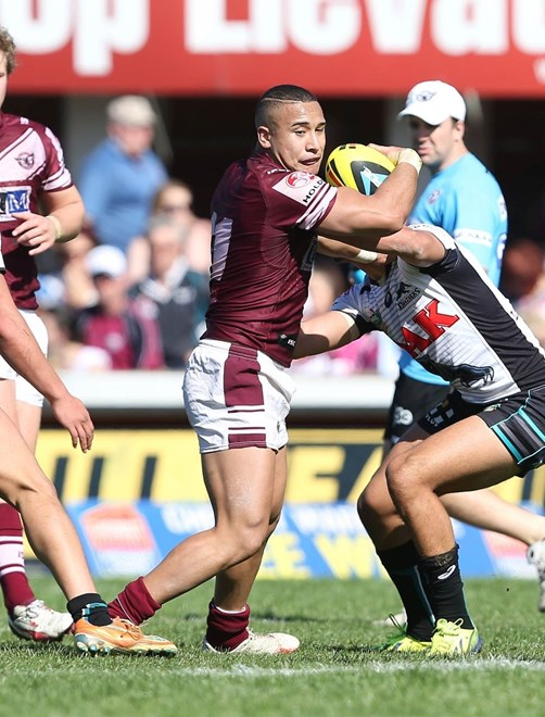 Digital Image by Robb Cox ©nrlphotos.com:  :NYC Rugby League - Round 25, Manly Warringah Sea Eagles V Penrith Panthers at Brookvale Oval, Sunday August 31st 2014.