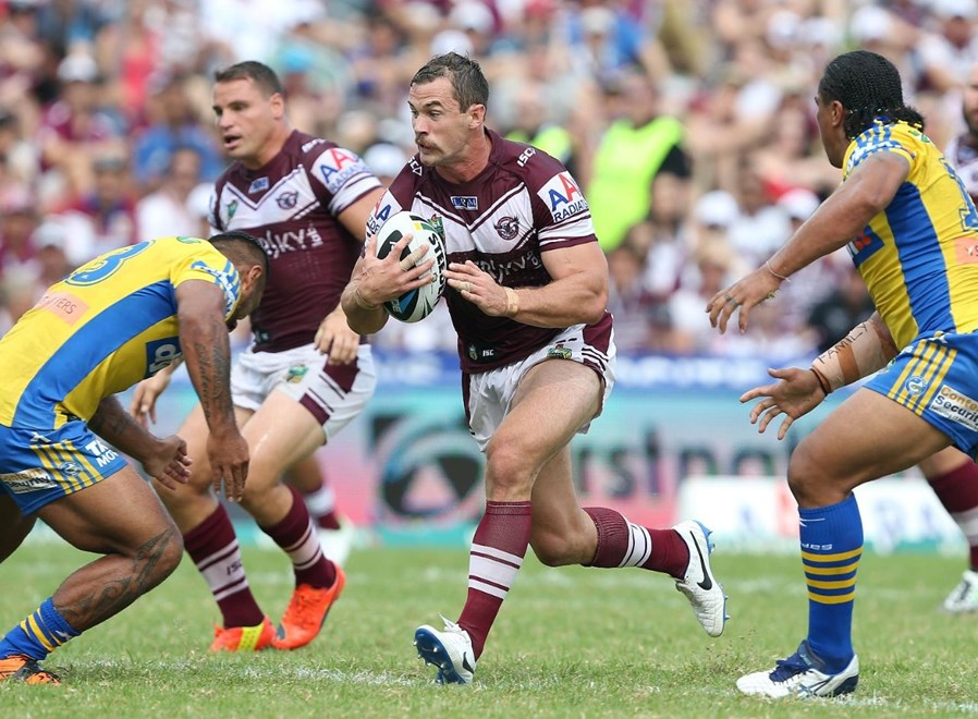 Digital Image by Robb Cox ©nrlphotos.com : Brenton Lawrence : NRL Rugby League - Round 3; Manly-Warringah Sea Eagles V Parramatta Eels, Brookvale Oval.  Sunday the 23rd of March 2014.