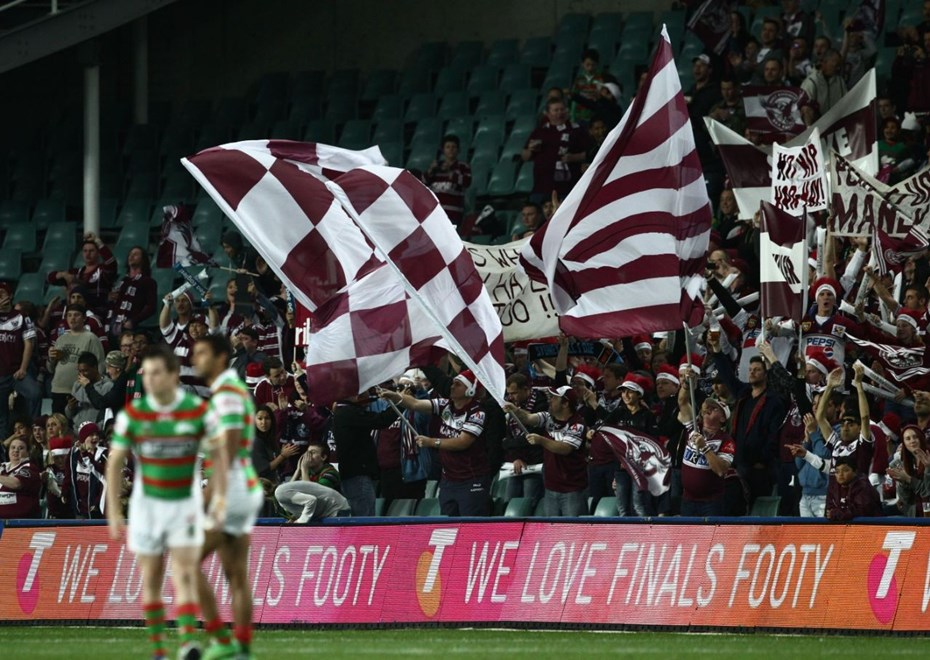 Photo by Colin Whelan copyright © nrlphotos.com :                               NRL Rugby League, Finals Week 1, Manly Warringah Sea Eagles v South Sydney Rabbitohs at SFS, Friday September 12th 2014.