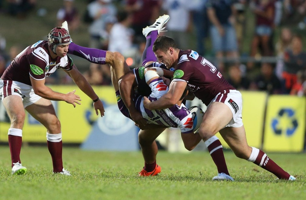 Digital Image by Anthony Johnson copyright © nrlphotos.com:  Billy Slater : 2015 NRL Round 2 - Manly Sea Eagles vs Melbourne Storm at Brookvale Oval, Saturday March 14th 2015