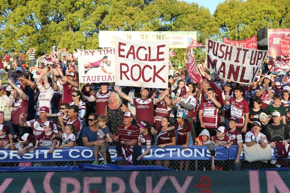 Digital Image Grant Trouville  © nrlphotos.com : Manly Lap   : NRL Rugby League Round 25 - Manly Sea Eagles v Penrith Panthers at Brookvale Oval Sunday the 31st of August 2014.