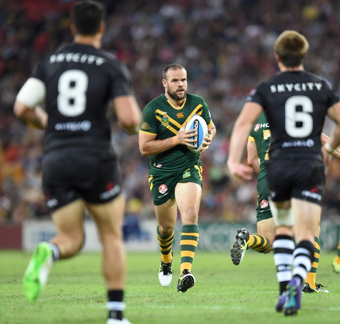 Nate Myles : Digital Image by Scott Davis : NRL Photos : ARL Representitive Rugby League : Australia V New Zealand at Suncorp Stadium; Brisbane; May 3rd 2015.