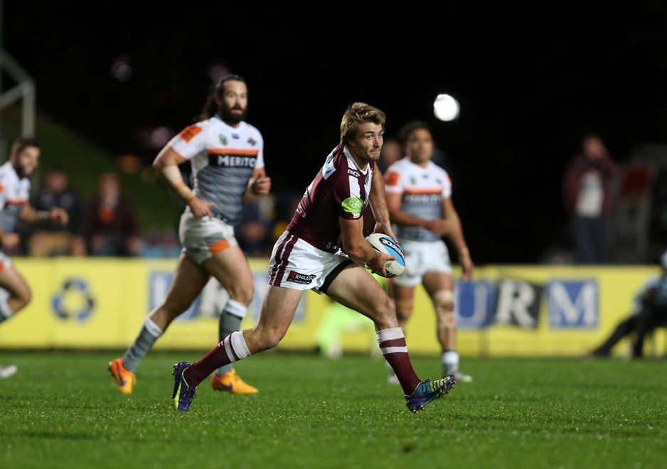 Kieran Foran : Digital Image by Robb Cox ©nrlphotos.com:  :NRL Rugby League - Manly-Warringah Sea Eagles Vs Wests Tigers, at Brookvale Oval, Friday June 19th 2015.