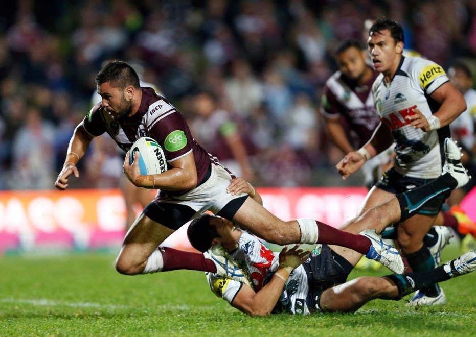 Justin Horo : Digital Image by Robb Cox ©nrlphotos.com : : NRL Rugby League - Manly-Warringah Sea Eagles V Penrith Panthgers at Brookvale Oval, Monday May 18th 2015.