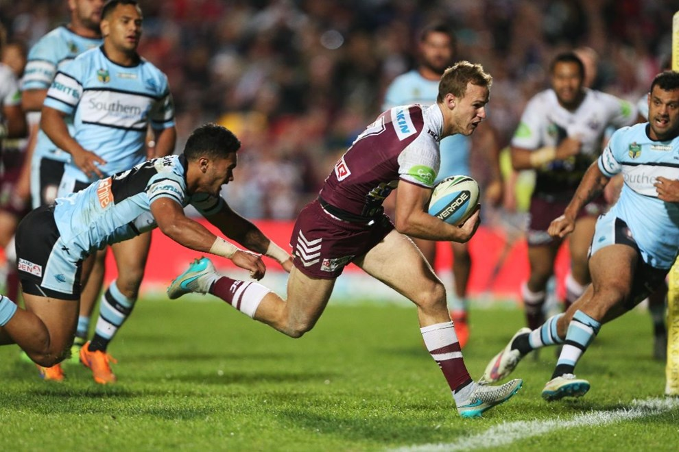 Daly Cherry Evans :NRL Rugby League - Sea Eagles V Sharks, at Brookvale Oval, Sunday July 5th 2015. Digital Image by Robb Cox ©nrlphotos.com