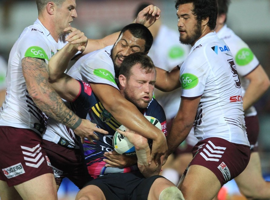 :		Digital image by Colin Whelan © copyright nrlphotos.com                     NYC  Rugby League, Round 12, North Queensland Cowboys v Manly Sea Eagles at Townsville, Saturday May 30th 2015.