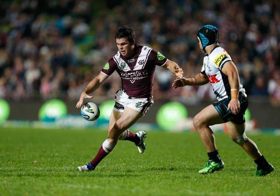 Jamie Lyon : Digital Image by Robb Cox ©nrlphotos.com : : NRL Rugby League - Manly-Warringah Sea Eagles V Penrith Panthgers at Brookvale Oval, Monday May 18th 2015.