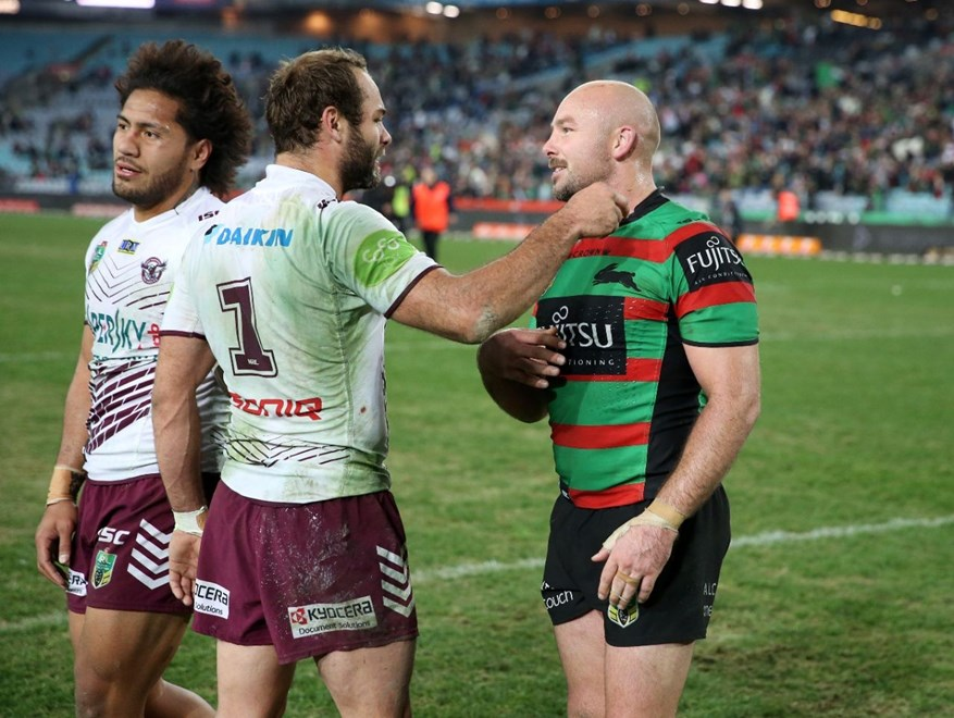 Stewart Bros Brett and Glenn  :Digital Image Grant Trouville © NRLphotos  : NRL Rugby League Round 16 - South Sydney Rabbitohs v Manly Sea Eagles at ANZ Stadium Friday the 26th June  2015.