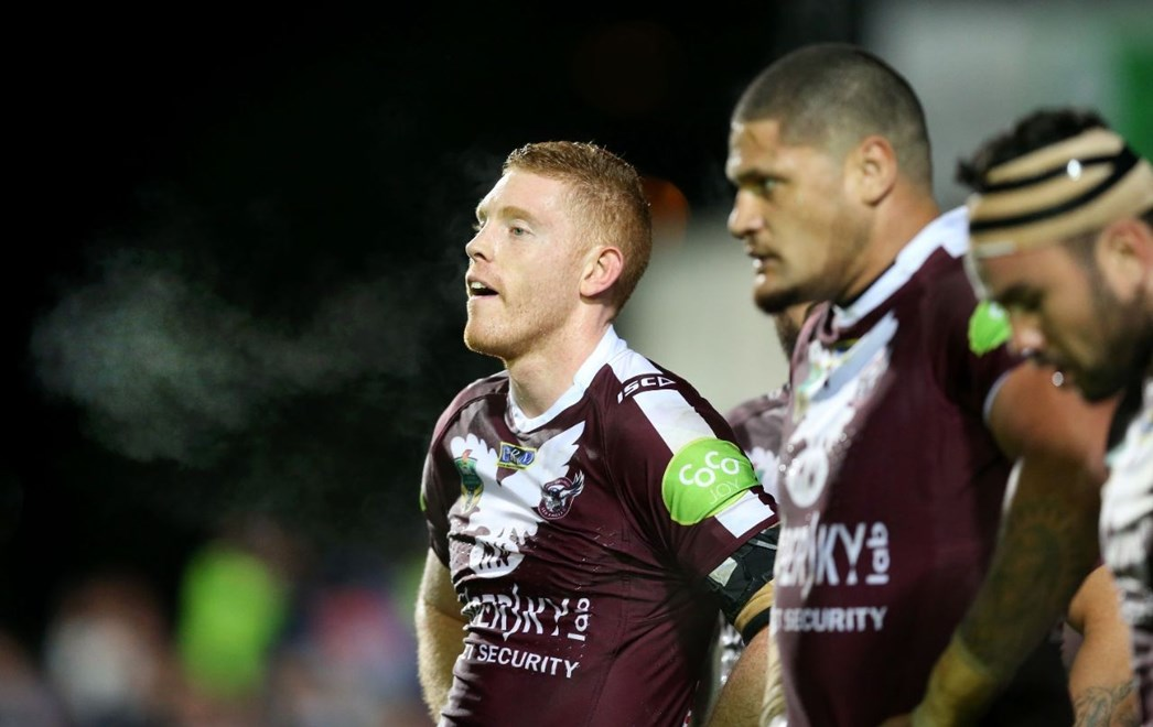tom Symonds  :Digital Image Grant Trouville © NRLphotos  : NRL Rugby League - Round 19 - Manly Sea Eagles v NQ Cowboys at Brookvale Oval Monday the 20th of July  2015.