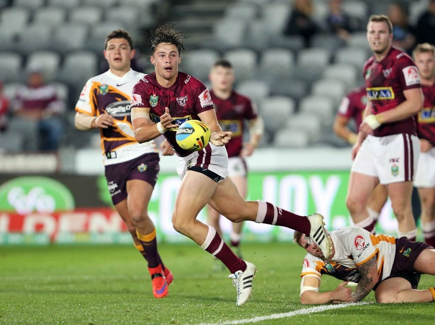 : NYC Rugby League - Sea Eagles V Broncos at Central Coast Stadium, Saturday 1st August 2015. Digital Image by Robb Cox ©nrlphotos.com