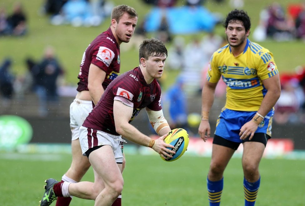 NYC :Digital Image Grant Trouville © NRLphotos  : NRL Rugby League - Round 24 Manly Sea Eagles v Parramatta Eels at Brookvale Oval Sunday the 23rd of August 2015.