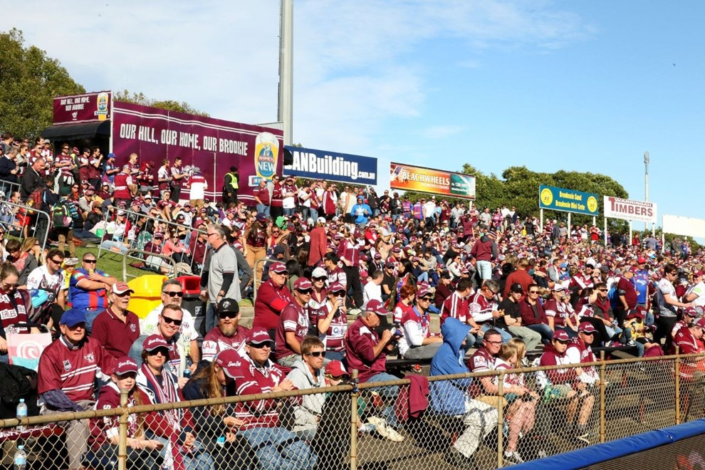 Digital Image by Anthony Johnson copyright © nrlphotos.com:  Manly Fans : 2015 NRL Round 9 - Manly Warringah Sea Eagles vs Newcastle Knights at Brookvale Oval, Sunday May 10th 2015