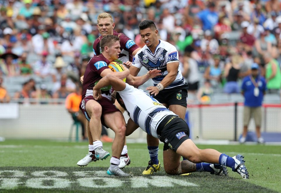 Game Action  :Digital Image  Grant Trouville © NRLphotos  : NRL Rugby League - 2016 Auckland 9s - Day Two Auckland Auckland 9s at EDEN PARK AUCKLNAD NZ. Sunday February 7th 2016.