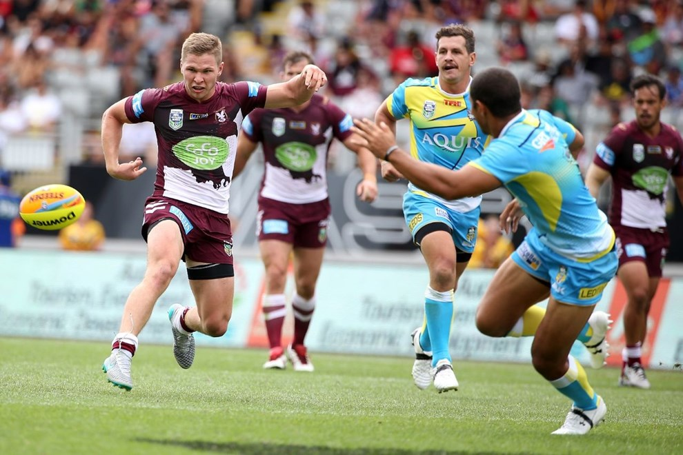 QF4 Titans v Sea Eagles:           2016 Downer NRL Auckland Nines at Mt Smart Stadium, Sunday 7th February 2016. Digital image by Fiona Goodall, copyright nrlphotos.com