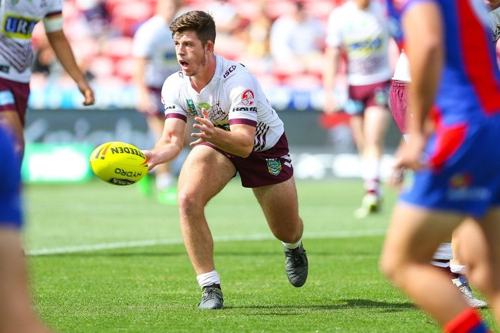 Competition - NYC Premiership Round - Round 08 Teams - Newcastle Knights v Manly Sea Eagles - 25th of April 2016 Venue - Hunter Stadium, Broadmeadow, NSW, Photographer - Paul Barkley