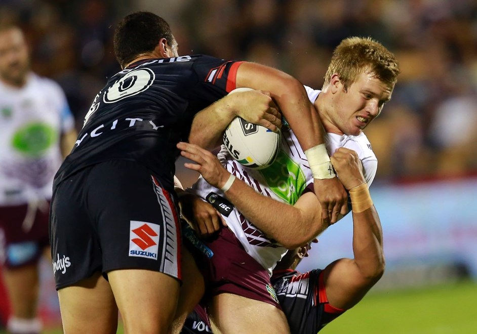Competition - NRL Premiership Round - Round 06 Teams – NZ Warriors v Manly Warringah Sea Eagles Date – 9th of April 2016 Venue – Mt Smart Stadium, Auckland, NZ Photographer – Shane Wenzlick
