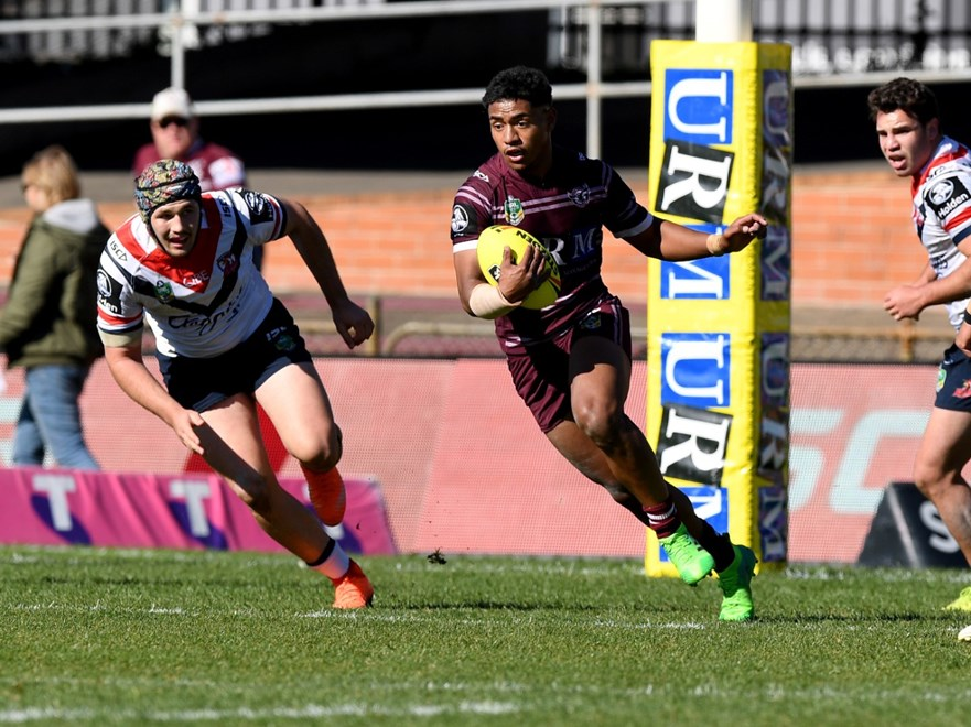 Round 22 Holden Cup Manly Sea Eagles vs Sydney Roosters at Lottoland . Picture: NRL Photos/Gregg Porteous