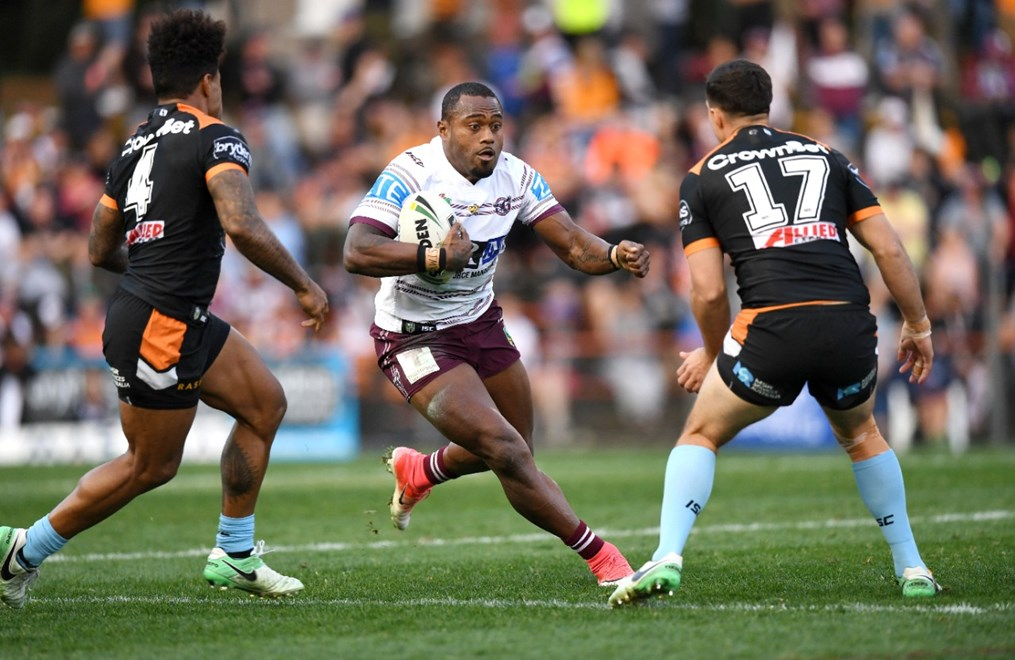 R 23 NRL Wests Tigers vs Manly Sea Eagles at Leichhardt Oval . Picture : Gregg Porteous