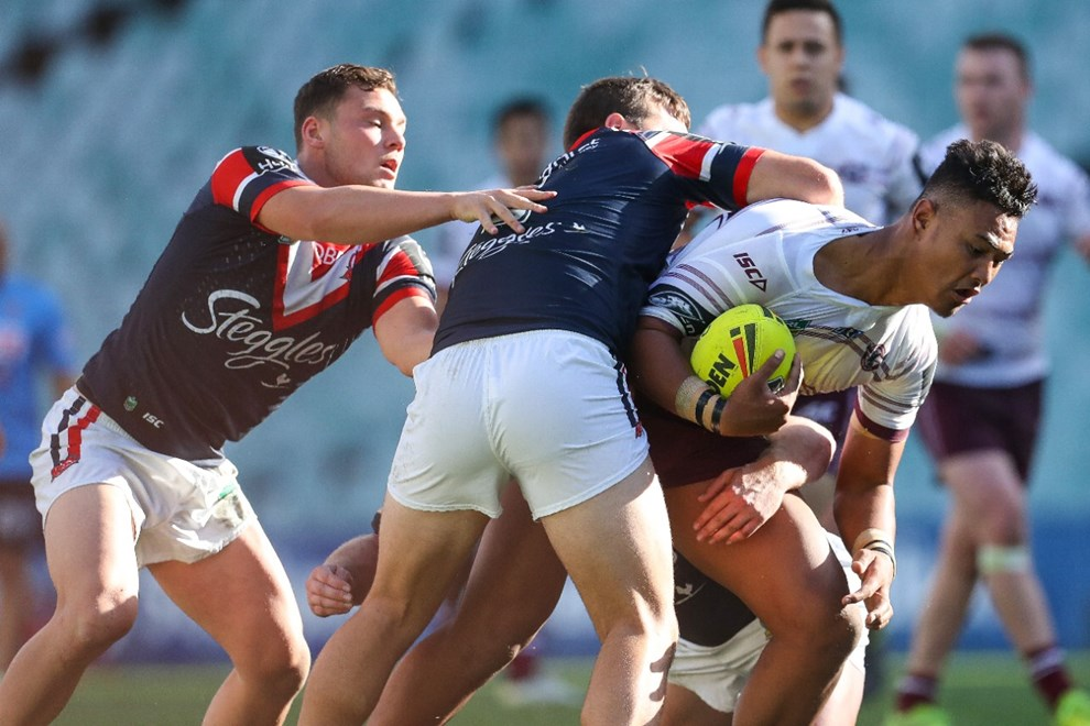 Competition - NYC. Round - Round 5. Teams - Sydney Roosters v Manly Warringah Sea Eagles. Date - 31st of March 2017. Venue - Allianz Stadium, Moore Park NSW. Photographer - Paul Barkley | © NRL Photos