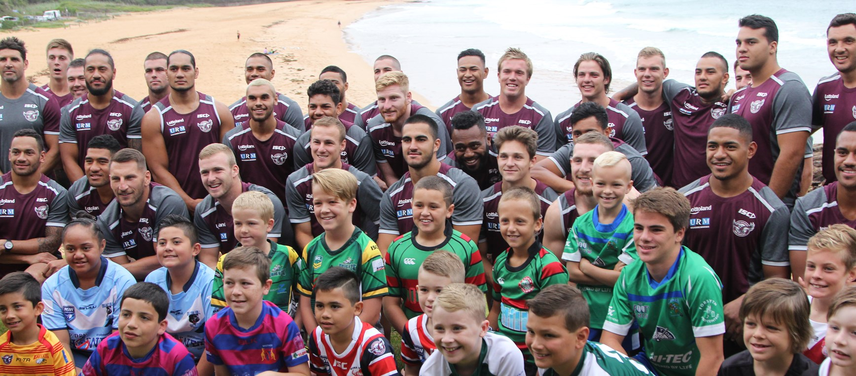 Manly JRL players enjoy photo shoot