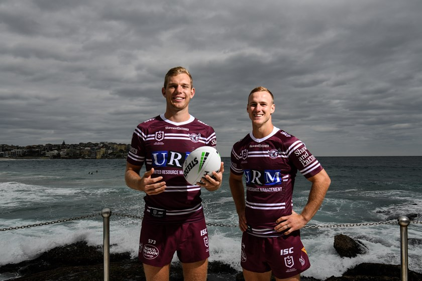 Tom Trbojevic and Daly Cherry-Evans at the NRL Season Launch.