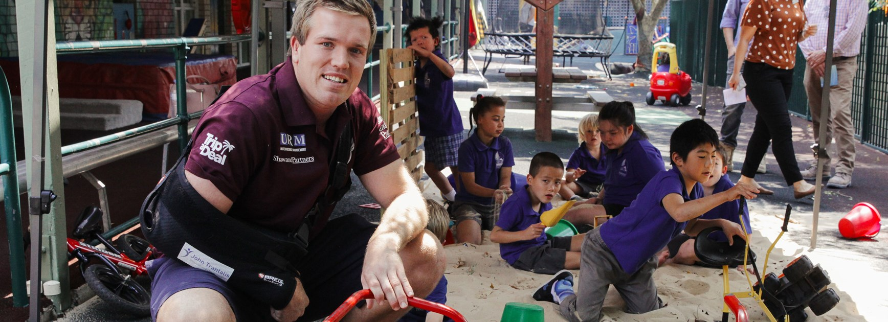 Downer and Sea Eagles bring joy to students