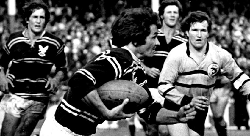 Prolific Test tryscoring winger Ken Irvine won premierships with Manly in 1972 and 1973. He scored 41 tries in 60 games for the Sea Eagles.