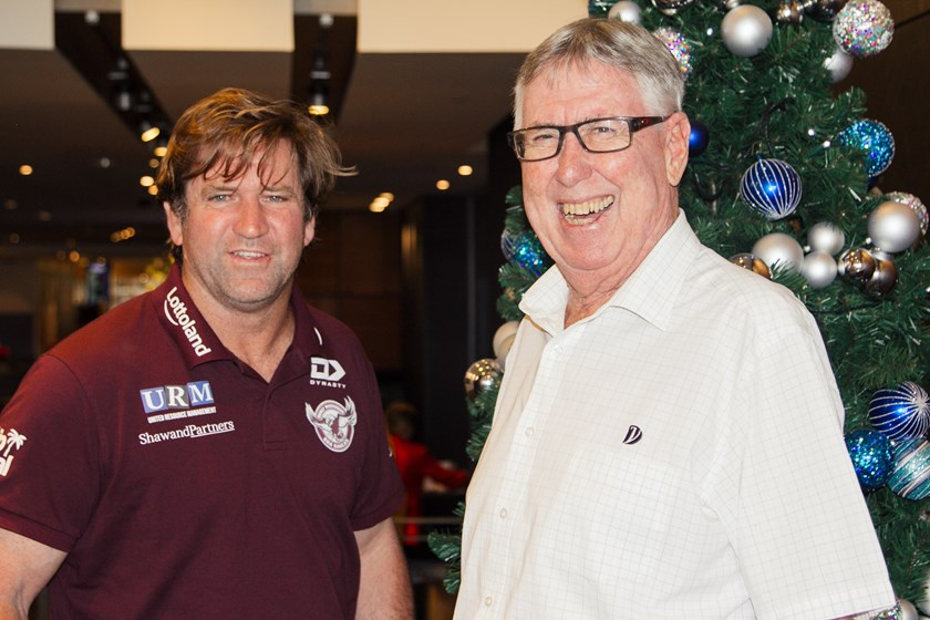 PHOTO: Dee Why RSL Club President, Mr Graeme Liddell, with Sea Eagles Head Coach, Des Hasler at Dee Why RSL.