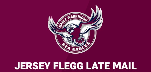 Jersey Flegg Late Mail: Sea Eagles team