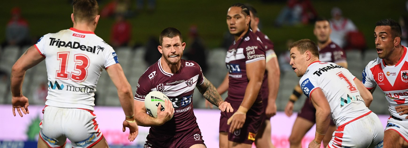 Sea Eagles suffer heavy loss to Dragons at Kogarah