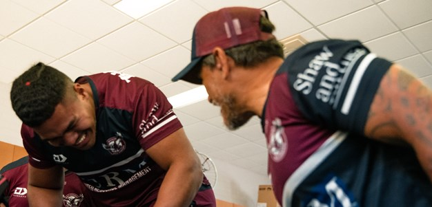 Young Sea Eagles feel the force of day one training