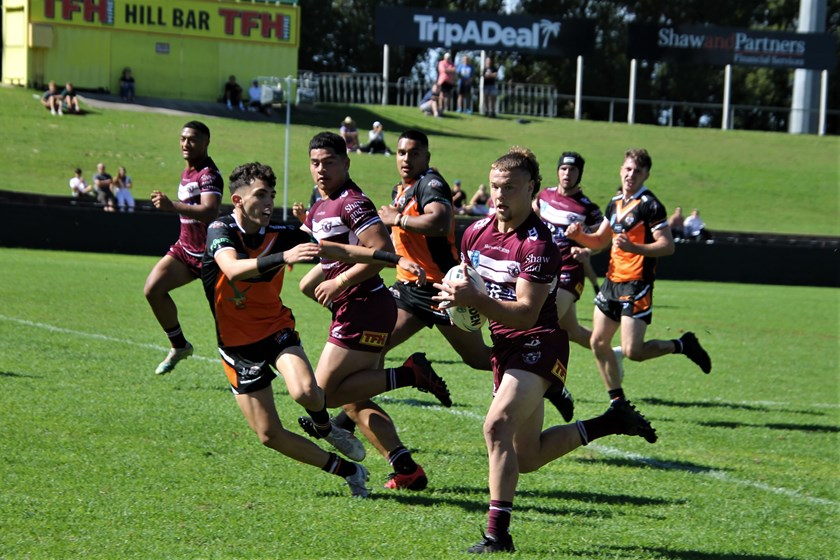 Prolific tryscoring centre Josh Feledy bagged three tries against Balmain at Lottoland today.