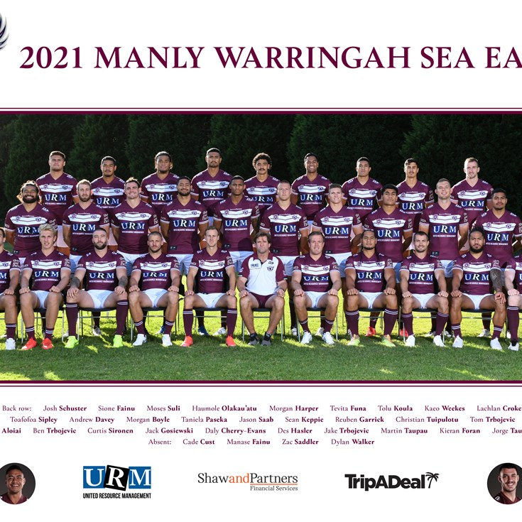 Sea Eagles 2021 Team Poster