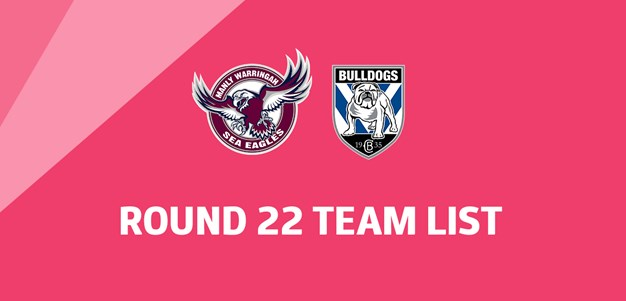 NRL Team List - Round 22