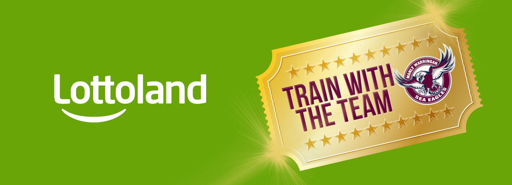 Win a Golden Ticket to Train with the Team – Thanks to Lottoland!